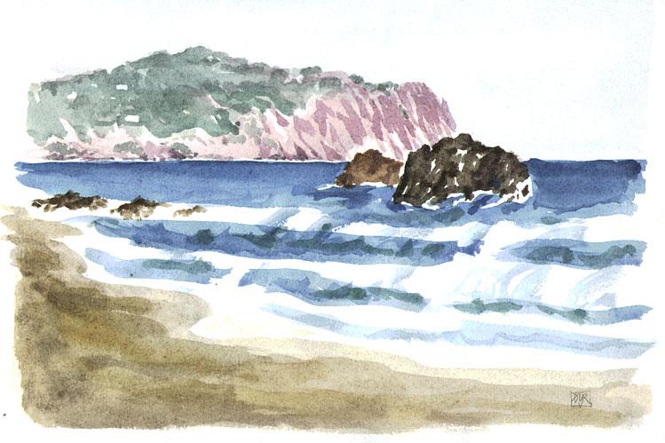 Strand på Eivissa